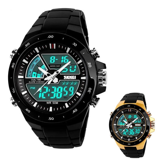 Relógio Masculino Esportivo Digital Anadigi Skmei 1016 Preto