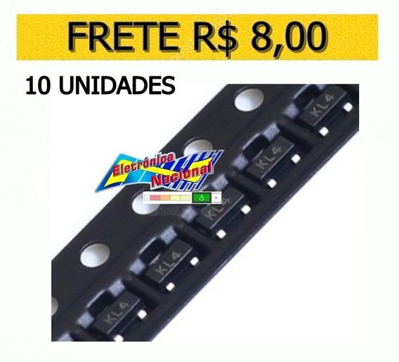 Diodo Kl4 Bat54s Schottky 0.2a/30v Sot23 - 10 Unidades