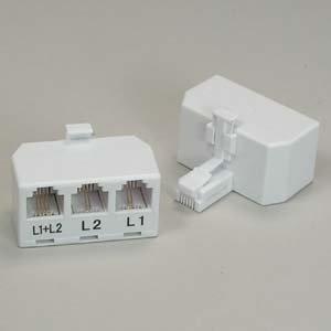 Piezas De Instalador Rj11 6p4c Line Splitter Line1line2line1
