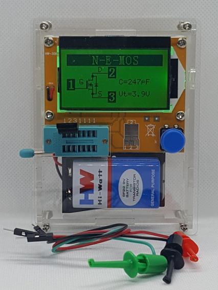 Testador Medidor De Componentes Eletronicos+case+bateria 9v