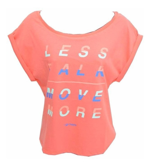 Remera Topper Less Talk Mujer Coral