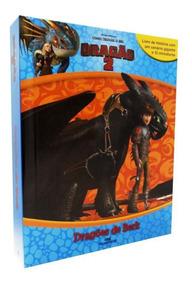 Livro Com 12 Miniaturas Como Treinar Seu Dragão 2 - Dragões