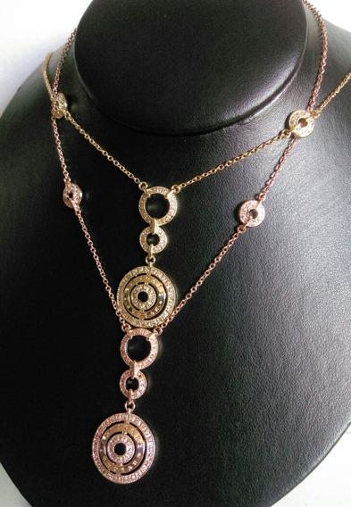 Collar Gargantilla Bvlgari Plata 925 Zirconia Micropave Fino