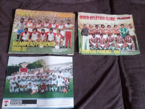 Revista Placar Coleção 3 Posters River Campeão Piauí Teresin
