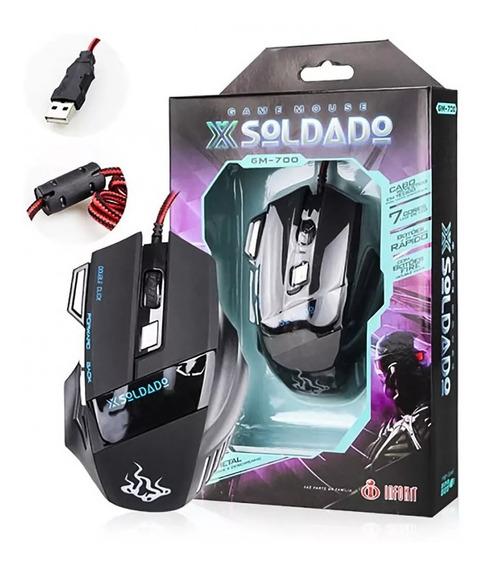 Mouse Gamer Usb Led Óptico 3000 Dpi 7 Botões T56 Cs, Lol