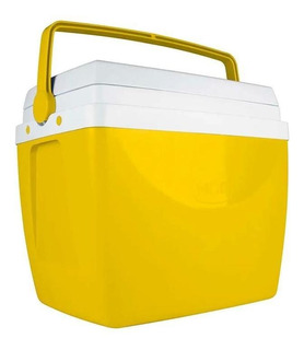 Caixa Térmica Mor Glacial 34 Litros 100% Virgem Amarela