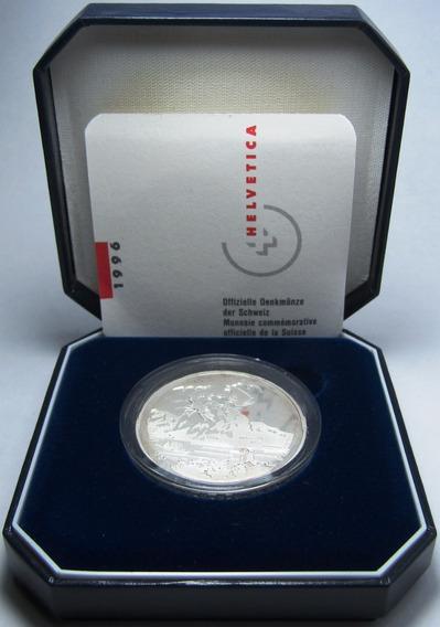 Suiza Estuche Moneda 20 Francos 1996 Plata Dragon Proof
