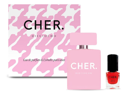 Set Perfume Mujer Cher Dieciocho 50 Ml Edp+esmalte De Uñas