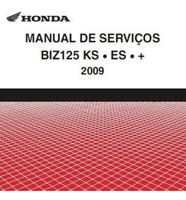 Manual De Serviço Esquema Elétrico Honda Biz 125 Ks-es 2009