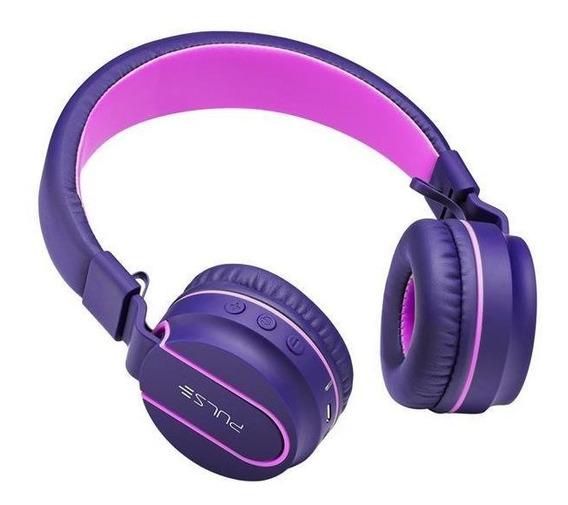 Headphone Bluetooth Pulse Fun Rosa E Roxo Ph217 Multilaser.