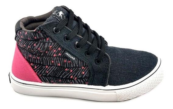 Zapatillas Botitas Jaguar Urbana Mujer Skate Lona 750