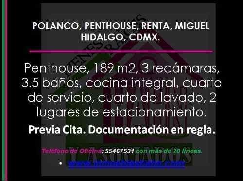 Polanco, Penthouse, Renta, Miguel Hidalgo, Cdmx