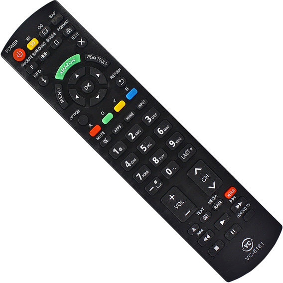 Controle Remoto Tv Panasonic Smart C/ Tecla Netflix E Amazon