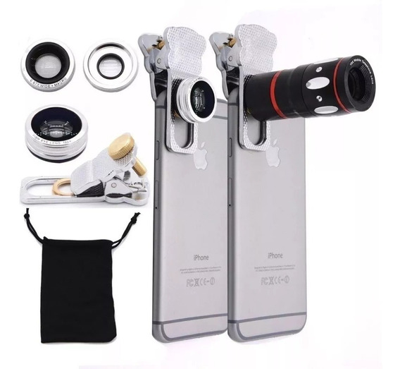Apexel 4 In 1 Cell Phone Camera Lens Kits Fisheye Lens + Len