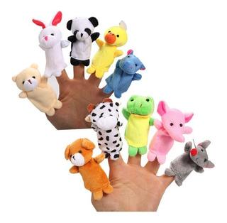 10 Animales Marionetas Dedo Titere Dedos Peluche Regalo Bebe