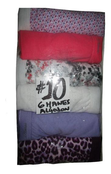 Pantaletas Color Y Estampads Corte Completo Talla 10 (38/40)