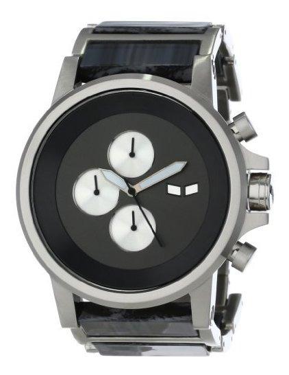 Vestal Pla021 Plexi Acetato Plata Gris Reloj De Hombre