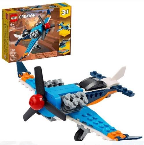 Lego Creator 3 En 1 Avión De Hélice 31099 128 Pzas Original