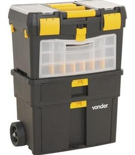 Caixa Plástica Organizadora Com Rodas Crv 0100 Vonder