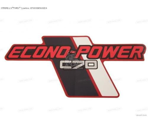 Imagen 1 de 2 de Juego Emblemas Laterales Honda C70 Econopower