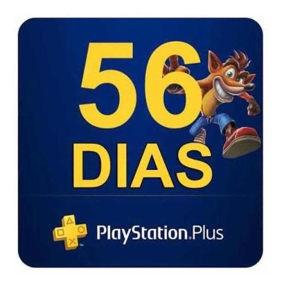 Psn Plus 56 Dias / Jogar Online / Ps4 / Envio Imediato