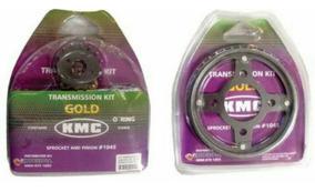 Kit Relação C/ Retentor/titan_fan150 04_15 Kmc Gold 1045 Aço