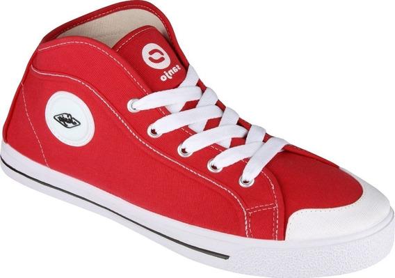 Tenis Cano Alto Vermelho Sola Branca Tênis Para Esporte Tenis Feminino Vermelho Ou Masculino Vermelho Botinha New