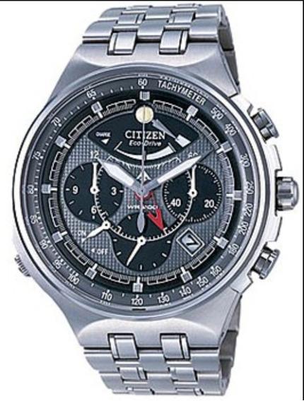Relógio Citizen Eco Drive Crono Alarme Av0020-55h *titanium*