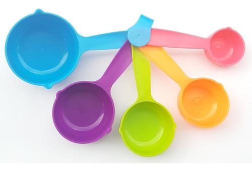 Set Juego Tazas Medidoras X 5 Plasticas Cocina Reposteria
