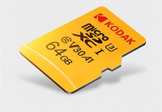 Cartão Micro Sd Kodak - 64gb Classe 10 U3 Frete Grátis