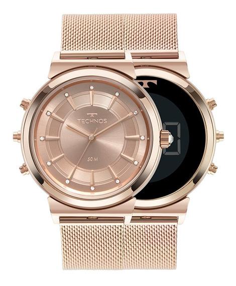 Relógio Technos Feminino Curvas Rosé 9t33ac/4j