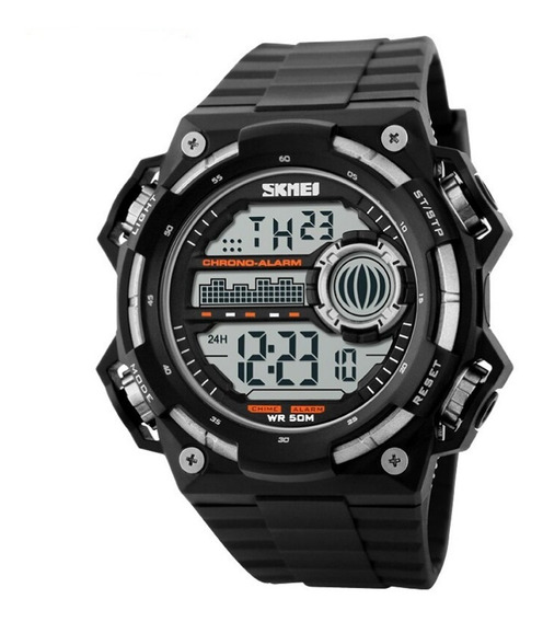 Relógio Masculino Skmei Digital 1115 Preto E Prata