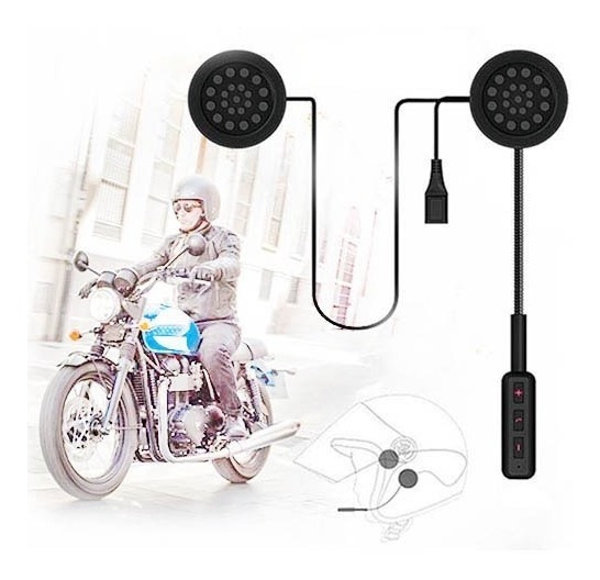 Auricular Casco Manos Libres Moto Bluetooth Mh01 Música Gps