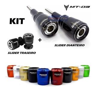 Kit Slider Premium Dianteiro E Traseiro Yamaha Mt03 Mt 03