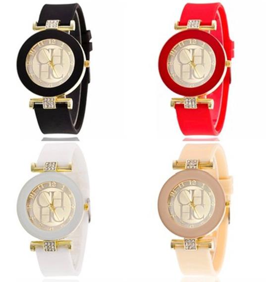Relógio Carolina Herrera Ch Luxo Feminino Strass Promoção