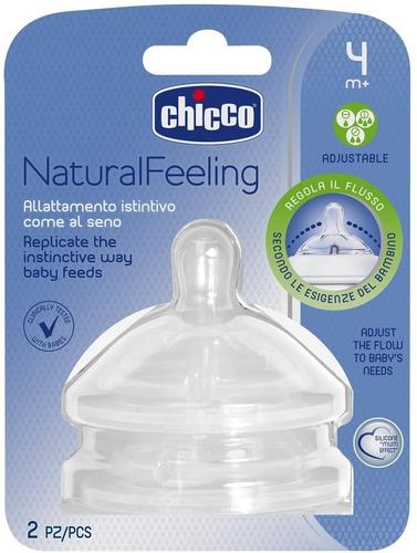 Imagen 1 de 3 de Chicco Tetina Natural Feeling Flujo Regulable 4+ 2 Piezas