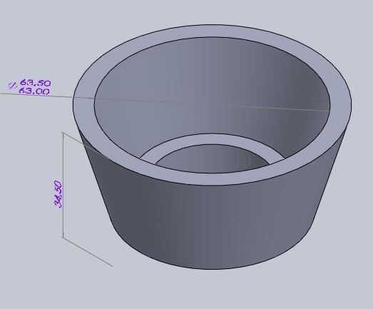 Sapata Borracha Para Cadeira/mesa Ø2½ (63,50mm) - 4 Pçs