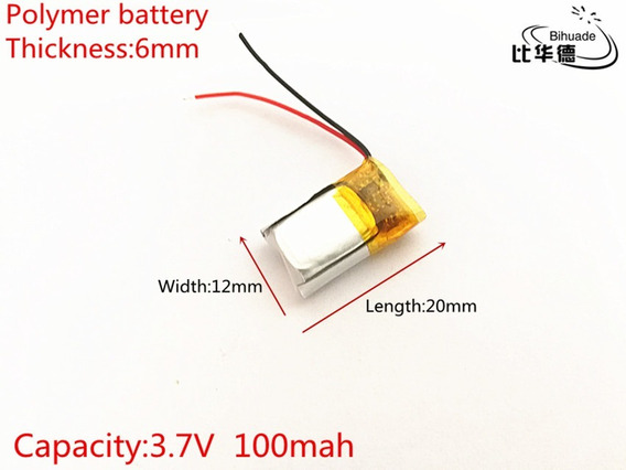 Bateria iPod Mp3 Caneta 100 Mah 3,7v Fone De Ouvido