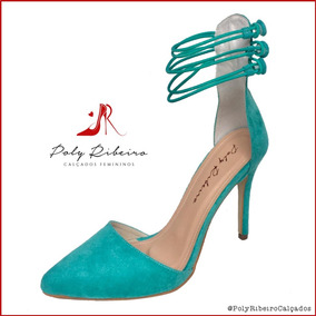 dd5675af48 Scarpin Azul Turquesa - Scarpins para Feminino no Mercado Livre Brasil