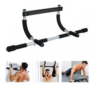 Barra Multiejercicios Portátil + Abrazaderas Iron Gym
