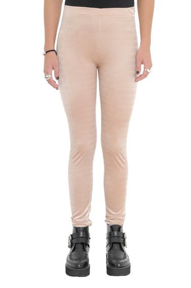 Calza Velvet Leggings Basico Algodón Mujer Complot