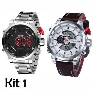 Kit: Relógio Ohsen Army + Relógio North Sport