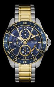 Relógio Guess Masculino Bicolor Fundo Azul 92600gpgsba1