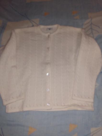 Sweter Tejido Color Crema Talla 8 Niña Ropa Frío Mimo