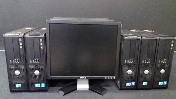 Lote 05 Computador Dell + Monitor 17+ Mouse E Teclado