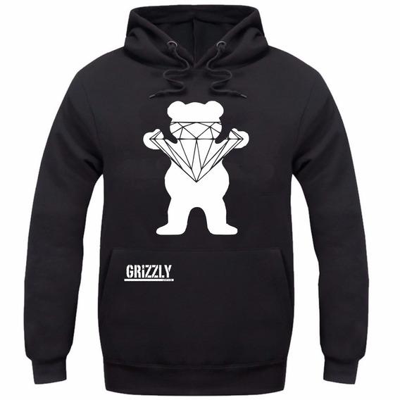 Blusa Moletom Canguru Urso Grizzly Skate Freestyle Diamond