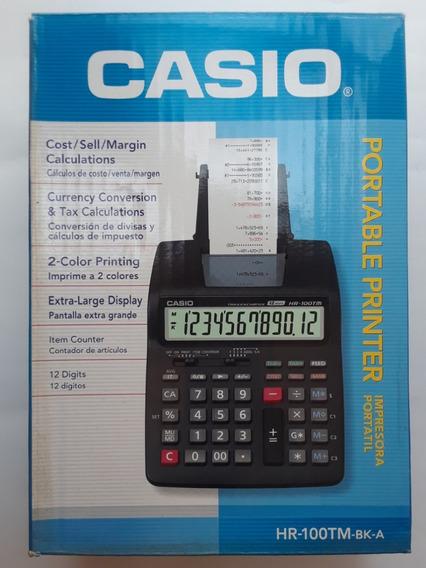 Calculadora Casio Hr-100tm ( Nueva En Caja Con Adaptador )