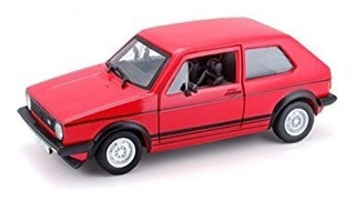 Miniatura Vw Golf Mk1 Gti 1979 Vermelha 1:24 Bburago
