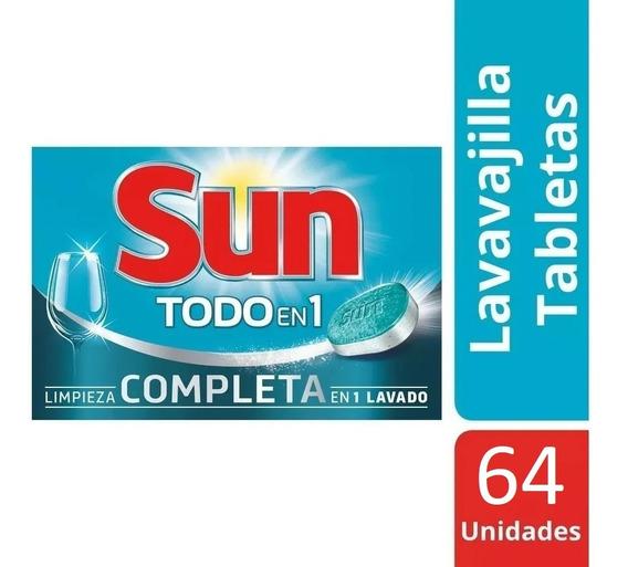 Detergente En Pastillas Jabón Lavavajillas Lavaplato Sun X64