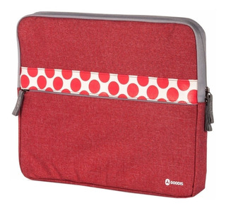 Funda Para Laptop Goodis Sleeve 15.6 Gris Rojo